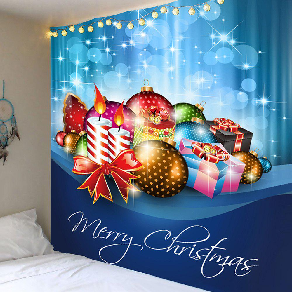 Wall Decor Christmas Candles Balls Gifts Pattern Tapestry