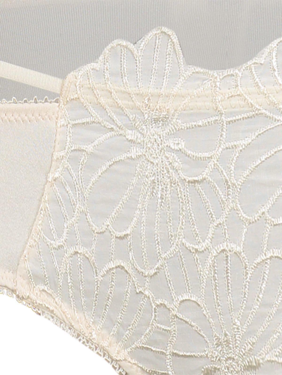 Double Strap Embroidered Underwire Bra Set - COMPLEXION 80B