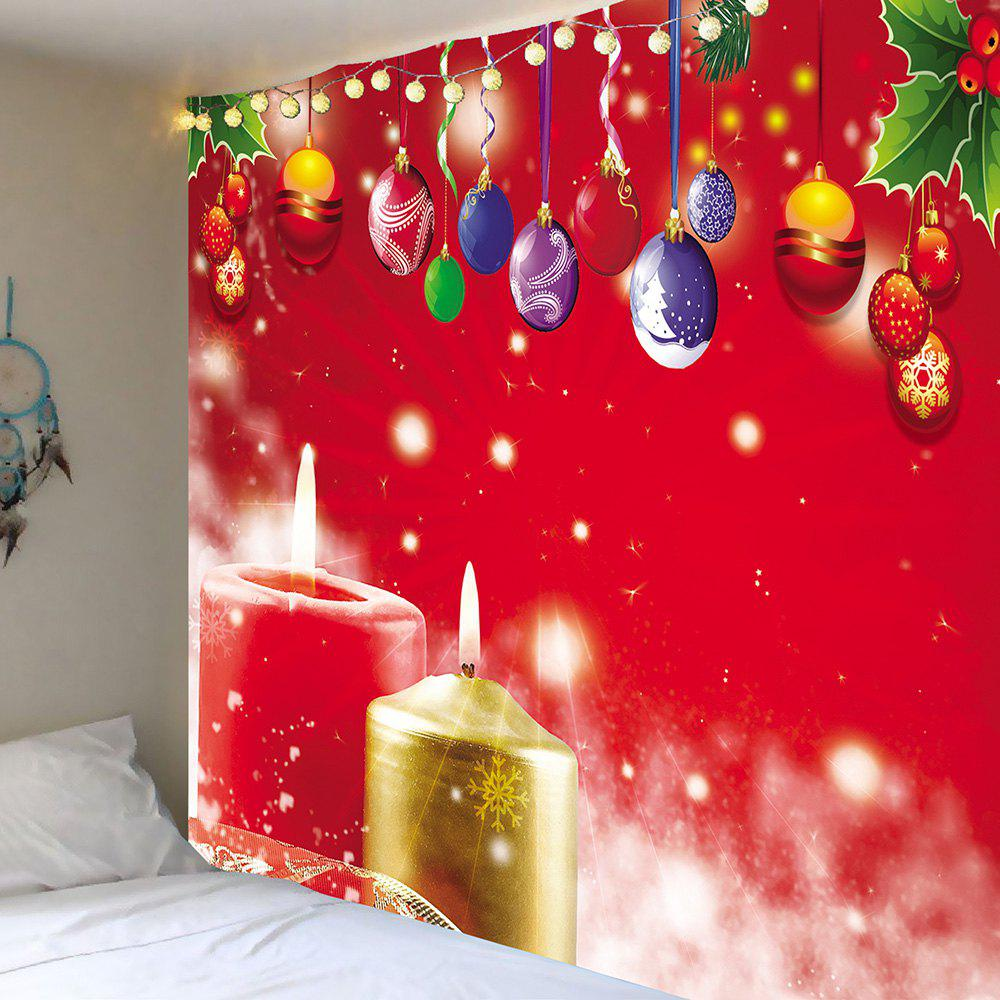Wall Art Christmas Hanging Balls And Candles Pattern Tapestry waterproof merry christmas graphic pattern wall hanging tapestry