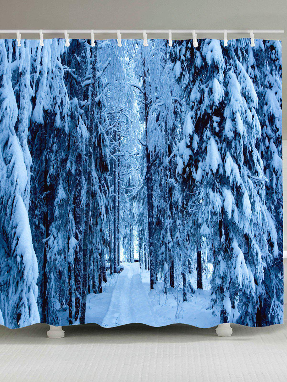 Pine Tree Snowscape Pattern Waterproof Shower Curtain отвертка крестовая pz2 38мм центроинструмент 722 38