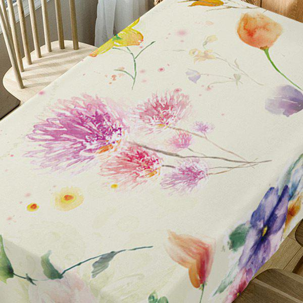 Flower Print Fabric Table Cloth - COLORMIX W54 INCH * L72 INCH
