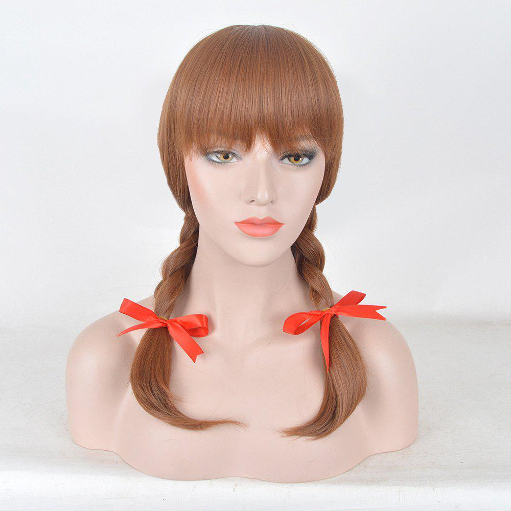 Medium Full Bang Braids Annabelle 2 Cosplay Synthetic Wig - DARK AUBURN