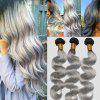 7A Virgin Body Wave Chinese Human Hair Weaves - BLACK GREY 18INCH