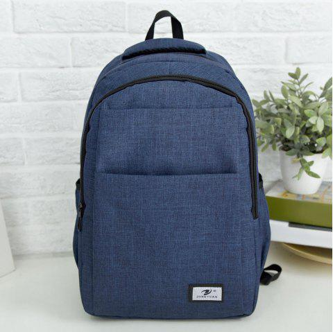 Zip Multi Function Backpack With Handle - BLUE