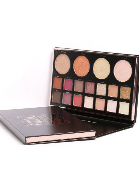 18 Colors Natural Long Lasting Eyeshadow Palette - 01