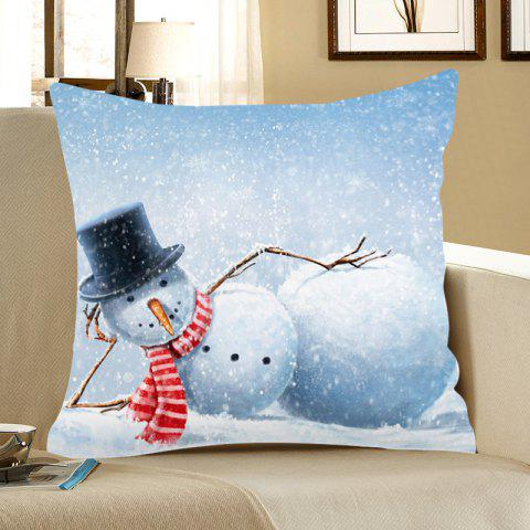Home Decor Snowman Pattern Christmas Pillow Case - COLORMIX W18 INCH * L18 INCH