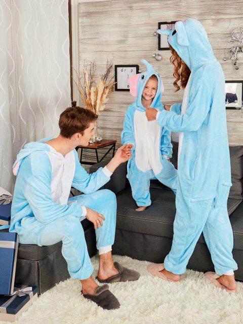 Cute Elephant Animal Onesie Matching Family Christmas Pajama - BLUE MOM L
