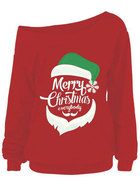 Merry Christmas Santa Claus Plus Size Sweatshirts - RED 5XL