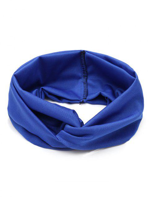 Multifunction Wide Elastic Hair Band - BLUE