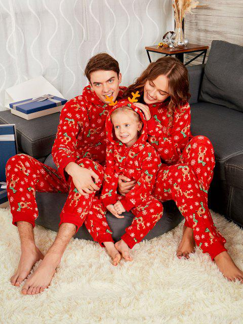 Rudolph Onesie Christmas Matching Family Pajama - RED KID 11T