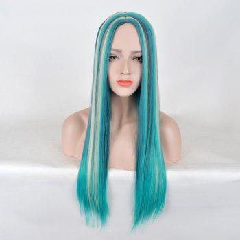 Long Center Parting Colormix Straight Synthetic Party Wig - COLORMIX COLORMIX