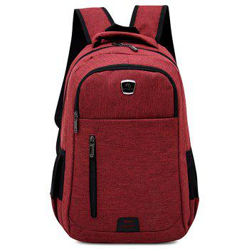 Multi Function Side Pockets Backpack - RED RED