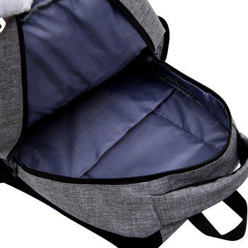 Multi Function Side Pockets Backpack -  GRAY