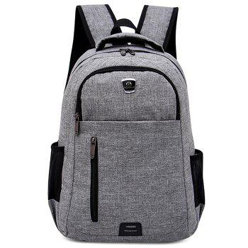 Multi Function Side Pockets Backpack - GRAY GRAY