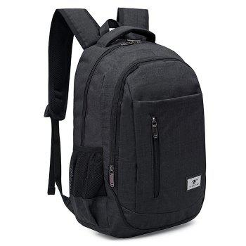 Front Zip Top Handle Backpack - BLACK