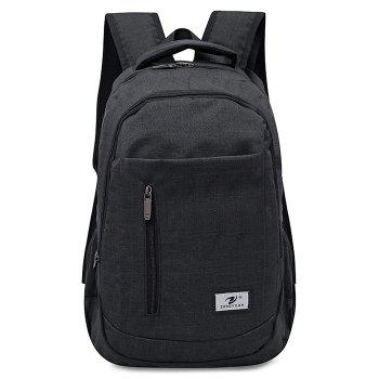 Front Zip Top Handle Backpack - BLACK BLACK