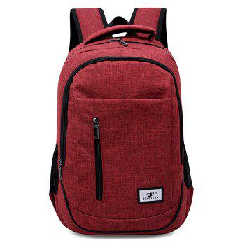 Front Zip Top Handle Backpack - RED RED