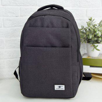 Zip Multi Function Backpack With Handle - BLACK BLACK