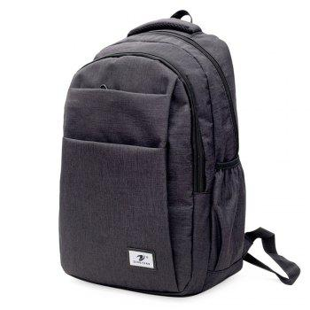 Zip Multi Function Backpack With Handle -  BLACK