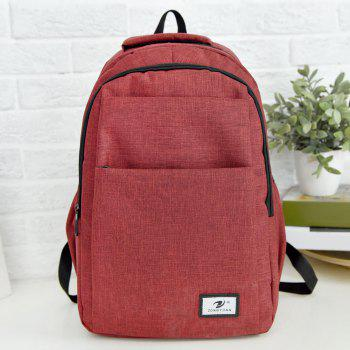 Zip Multi Function Backpack With Handle - RED RED