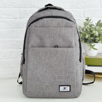 Zip Multi Function Backpack With Handle - GRAY GRAY