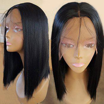 Lace Front Medium Center Parting Straight Synthetic Wig - BLACK BLACK