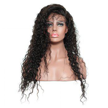 Long Side Parting Fluffy Kinky Curly Synthetic Lace Front Hair - BLACK BLACK