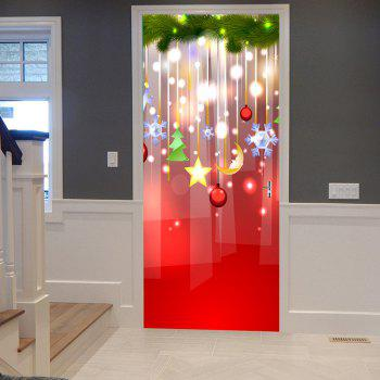Autocollants de Porte Motifs Décorations de Noël Suspendues