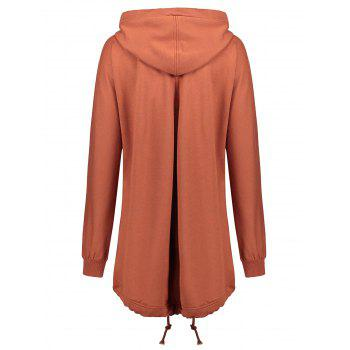 Plus Size Zip Up Hooded Coat - SUGAR HONEY SUGAR HONEY