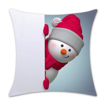 Christmas Snowman Print Throw Pillow Case - RED/WHITE W18 INCH * L18 INCH