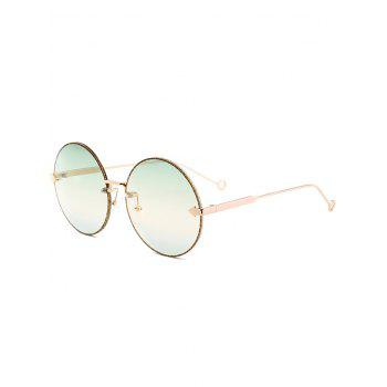 UV Protection Arrow Decorated  Rimless Round Sunglasses - GREEN GREEN