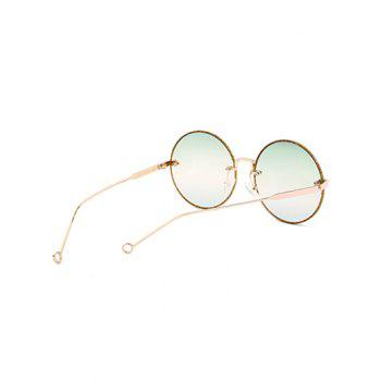 UV Protection Arrow Decorated  Rimless Round Sunglasses - GREEN