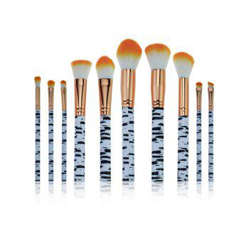 Professional Zebra Stripes Pattern Makeup Brushes Set - ORANGE ORANGE