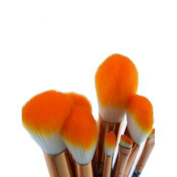 Professional Zebra Stripes Pattern Makeup Brushes Set - ORANGE