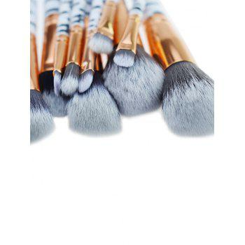 Professional Zebra Stripes Pattern Makeup Brushes Set - GRAY