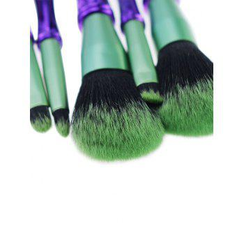 Portable 5Pcs Professional Makeup Brushes Set -  PURPLE