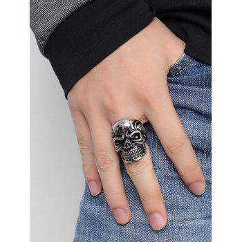 Stainless Steel Cool Skull Ring - SILVER 11