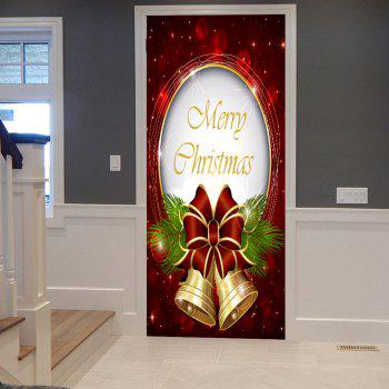 Christmas Bells Pattern Door Cover Stickers