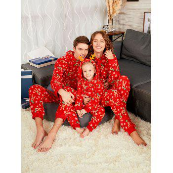 Rudolph Onesie Christmas Matching Family Pajama - RED MOM S