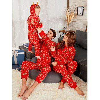 Rudolph Onesie Christmas Matching Family Pajama - RED MOM XL