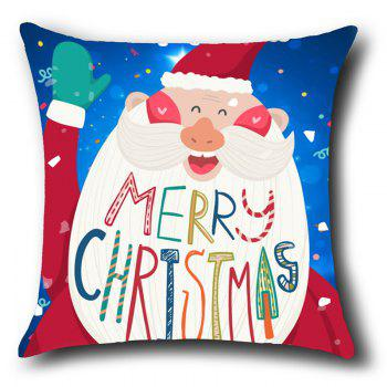 Happy Santa Claus Patterned Throw Pillow Case - RED/WHITE/BLUE W18 INCH * L18 INCH