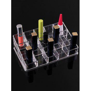 15 Squares Desktop Lipstick Makeup Storage box - TRANSPARENT