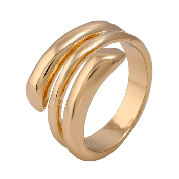 Simple Alloy Cuff Ring - GOLDEN GOLDEN