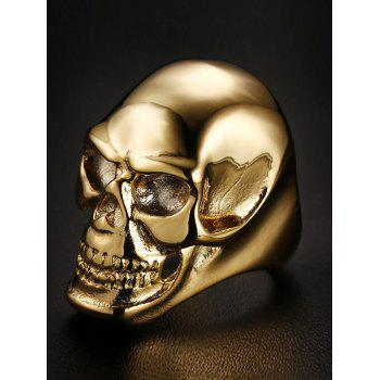 Alloy Skull Simple Ring - GOLDEN 10