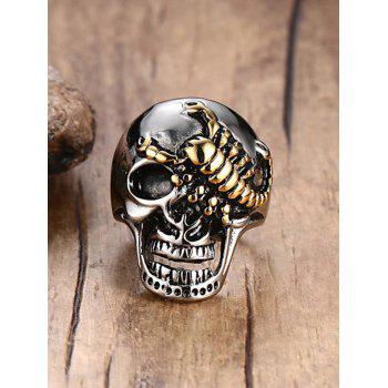 Stainless Steel Skull Scorpion Finger Ring - SILVER SILVER