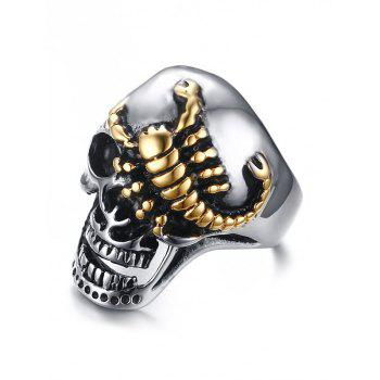 Stainless Steel Skull Scorpion Finger Ring - SILVER 11