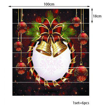 Bell Printed Decorative DIY Christmas Stair Stickers - COLORFUL 100*18CM*6PCS