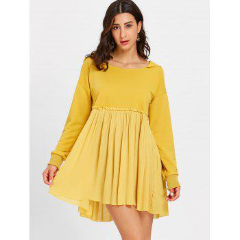 Hooded Long Sleeve Pleated Dress - GINGER L