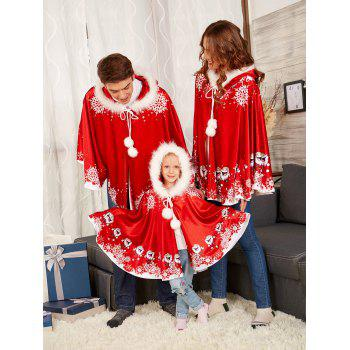 Velvet Printed Matching Family Christmas Costume