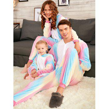 Christmas Rainbow Unicorn Animal Family Onesie Pajamas - COLORMIX MOM S